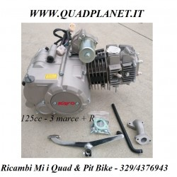 MOTORE MINI QUAD 125 SEMIAUTOMATICO 3 MARCE + RETRO